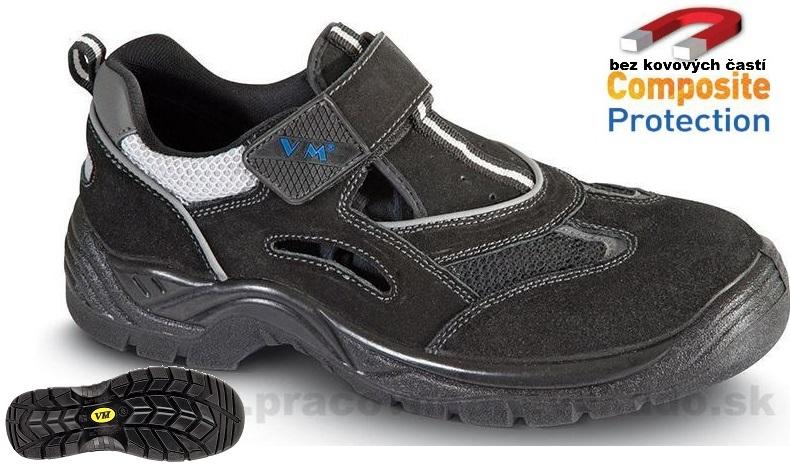 3ee7ab411a9 Pracovná obuv VM - AMSTERDAM 2865 - 01 NON METALIC čierna