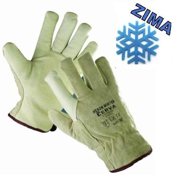 Zateplené pracovné rukavice HERON WINTER ČERVA 8c975eeb20