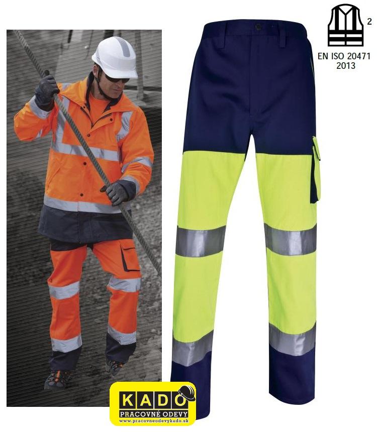 Pracovné odevy - Reflexná zateplená bunda EASYVIEW DELTAPLUS žltá ... 991587de3ba