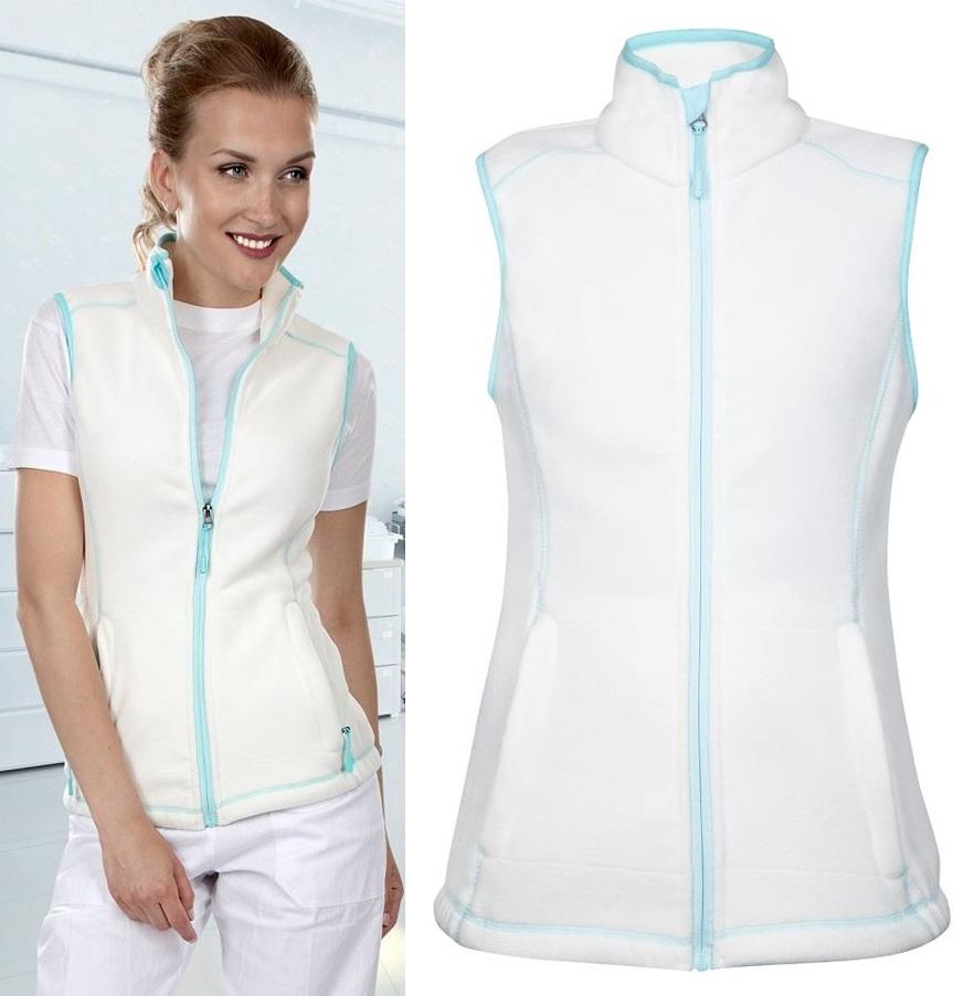 d42b791b0005 Pracovné odevy - dámska fleecová vesta JANETTE ARDON biela