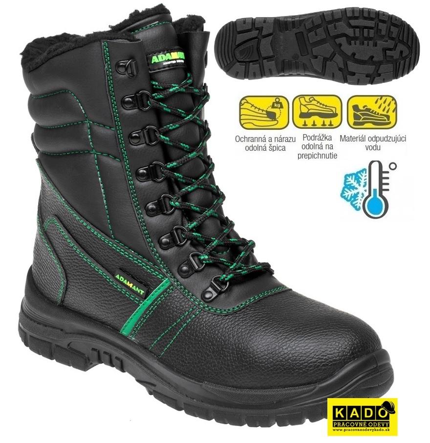 312a01d0361e Bezpečnostná poloholeňová obuv ADAMANT zateplená S3