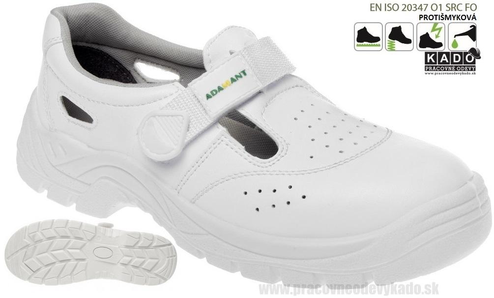 e0cf0eb21ae1 Pracovná obuv Adamant - Sandál 01 White