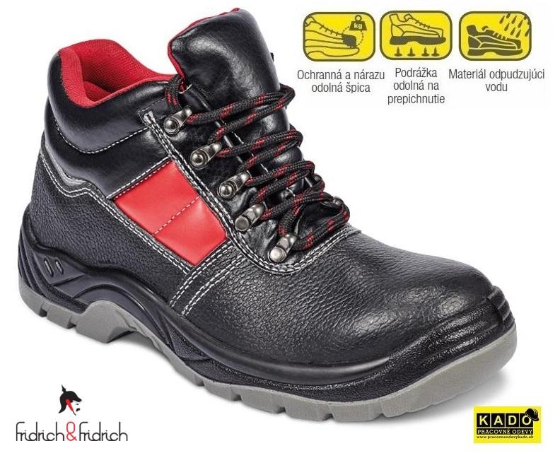 93faf6415 Pracovná a bezpečnostná obuv s oceľovou špicou a planžetou
