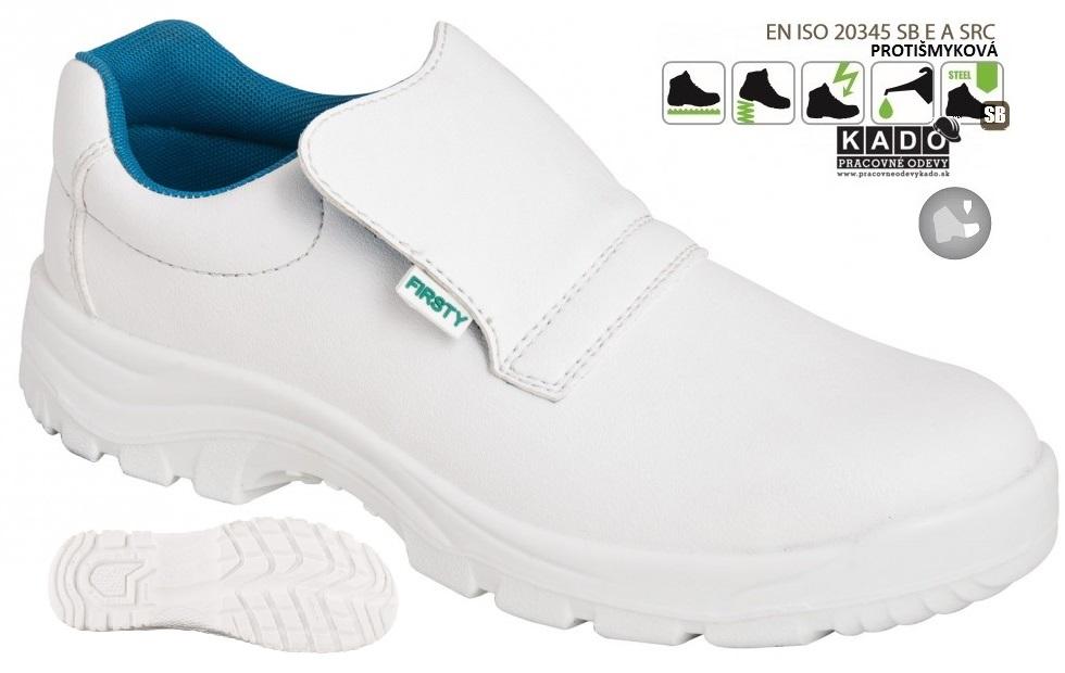 Bezpečnostná pracovná OBUV FIRSTY MOKASÍNA VALI S2 biela eb0e0c57507