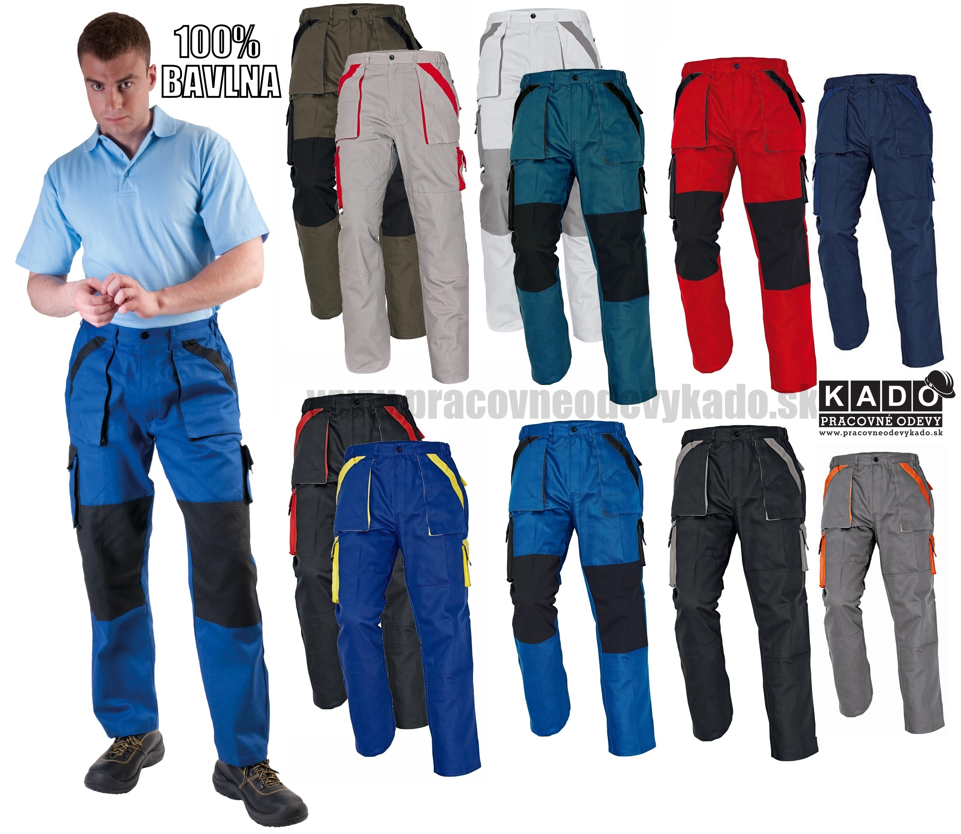 c9e0b16b1 Pracovné odevy - Nohavice MAX do pásu viac farieb