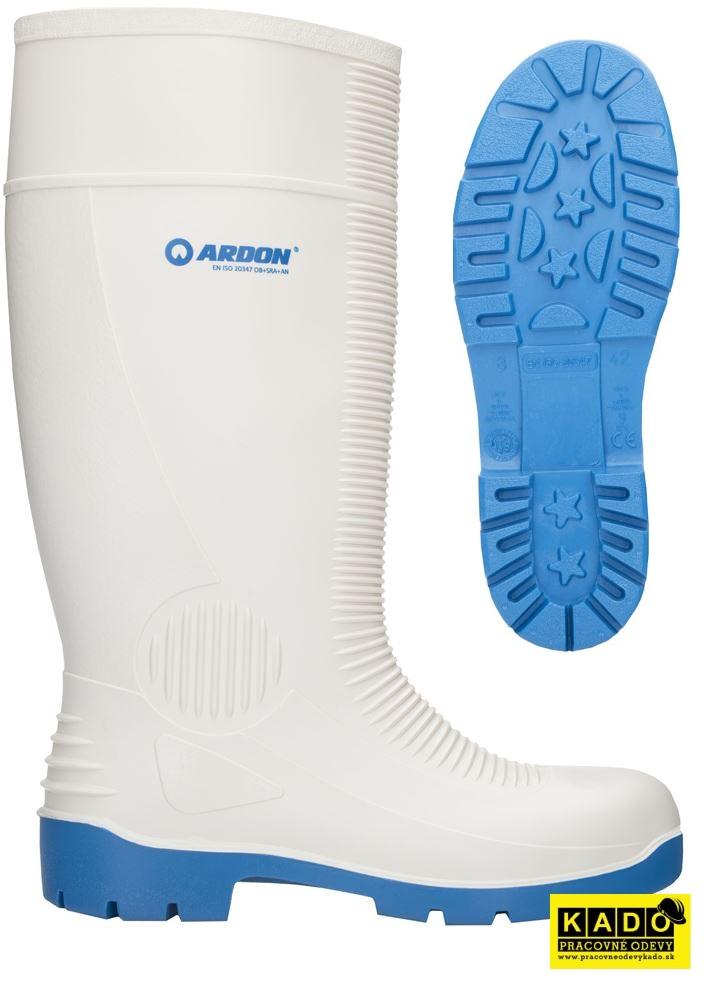 Pracovná obuv - biele čižmy WHITEFISH OB ARDON 7d30f1a8352
