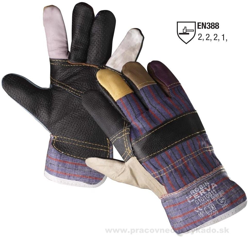Pracovné rukavice ROBIN ROCKY ČERVA 065f83235b