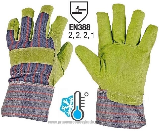 Pracovné rukavice zateplené CHUKAR WINTER LIGHT HS-01-005 F F 944f8bbdba