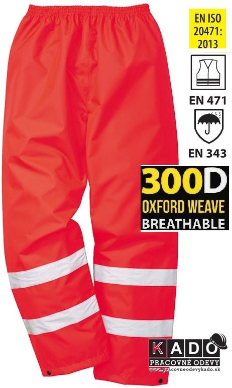 00d29c23e880 Pracovné reflexné nepremokavé nohavice červené S480RER HI-VIS TRAFFIC  PORTWEST