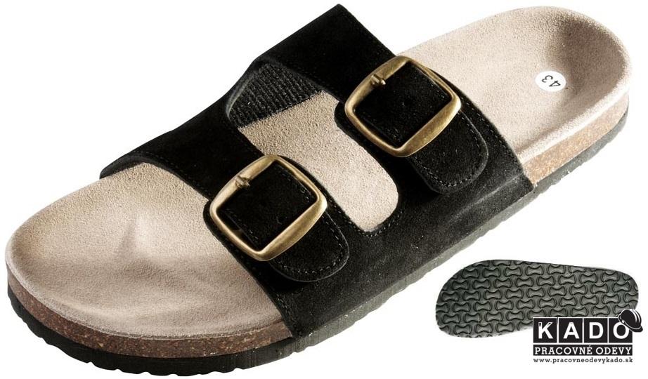 Pracovná obuv - korkové šľapky PUDU ČERVA ČIERNE aa4ec5e4d82