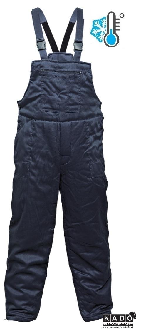 2f0e52a38106 Pracovné odevy - ZATEPLENÉ Nohavice FF BE-03-001 s náprsenkou tmavmodré