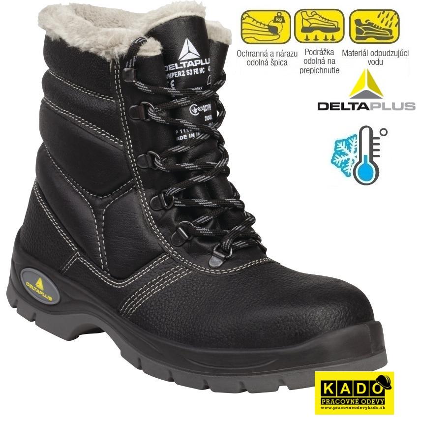 92477ac84d9f Bezpečnostná poloholeňová obuv DELTAPLUS JUMPER S3 WINTER zateplená do -30°C