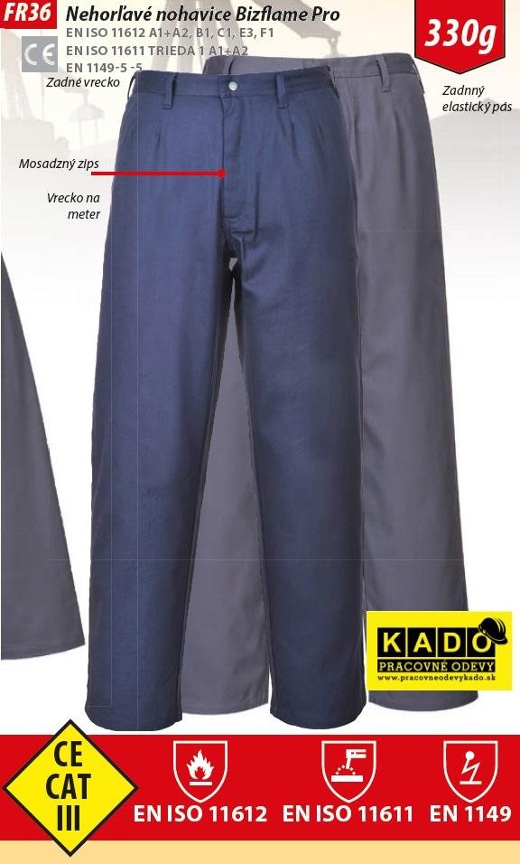 714817d050fd Pracovné odevy - Antistatické nehorľavé nohavice do pásu PW FR36