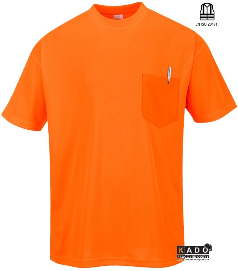 55b6dd90b Pracovné odevy - reflexné tričko Day-Vis s578 Portwest s vreckom ORANŽOVÉ