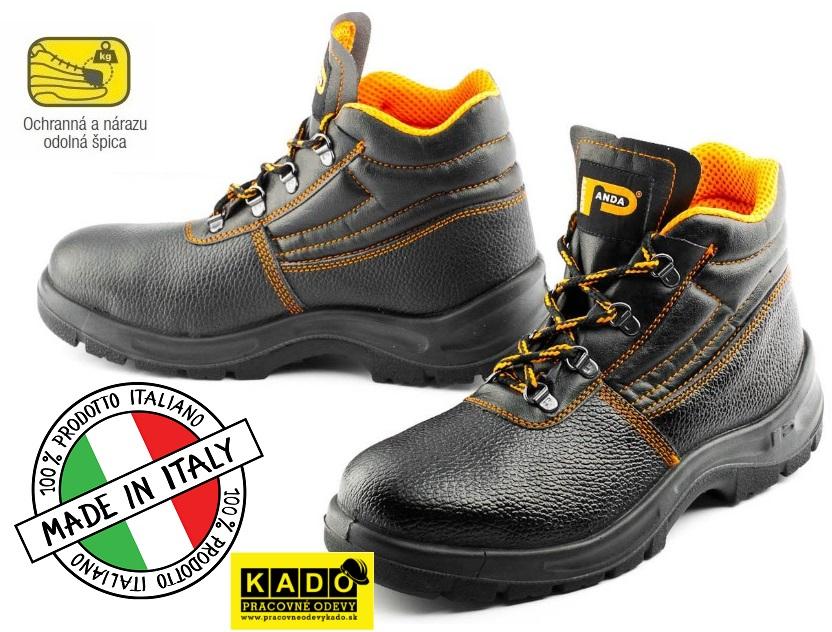 Bezpečnostná obuv PANDA ERGON Ankle S1 ALFA e3e7cc437c3