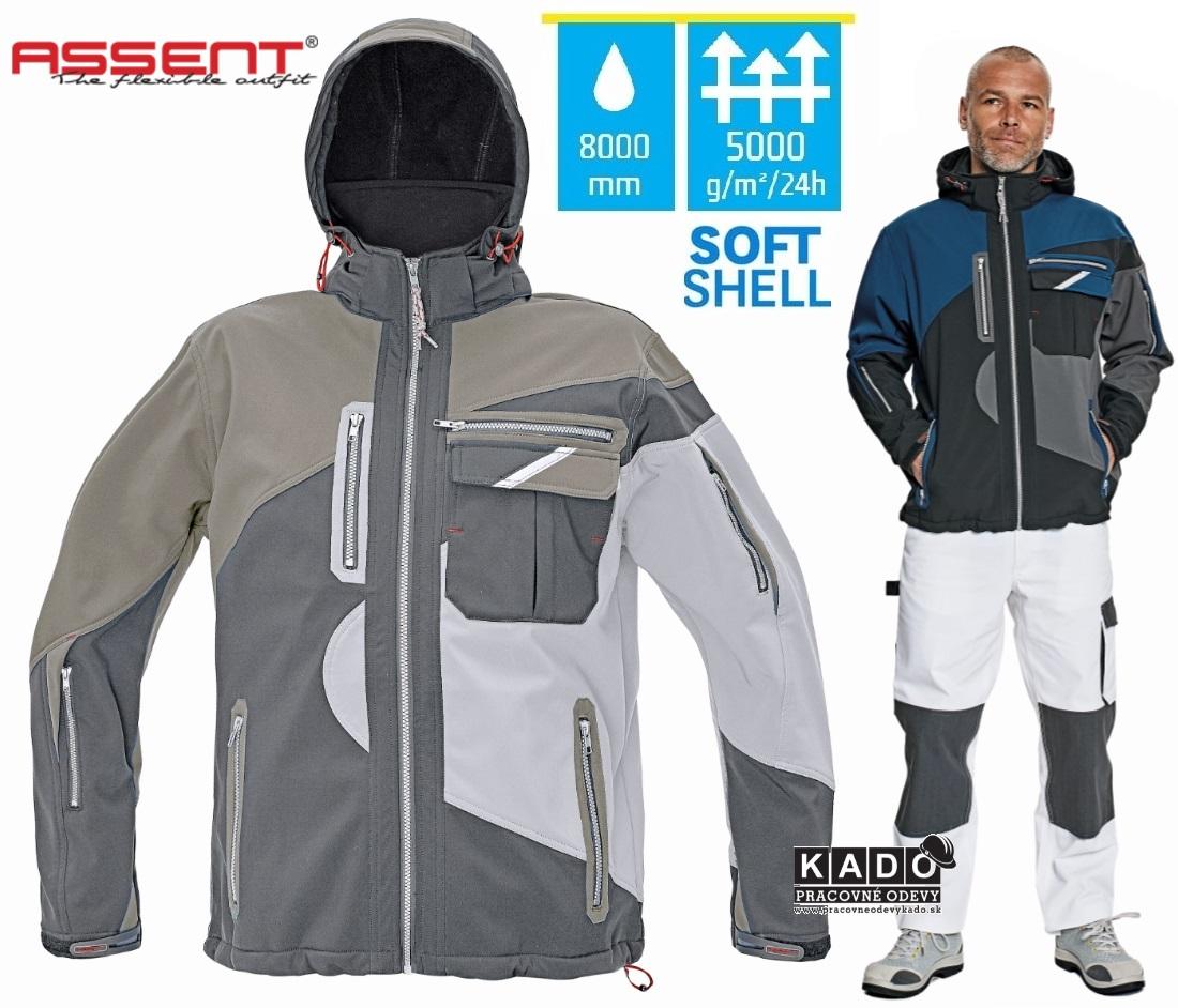 01480e53713d Pracovné odevy - softshellová bunda ASSENT SYMMONS ČERVA