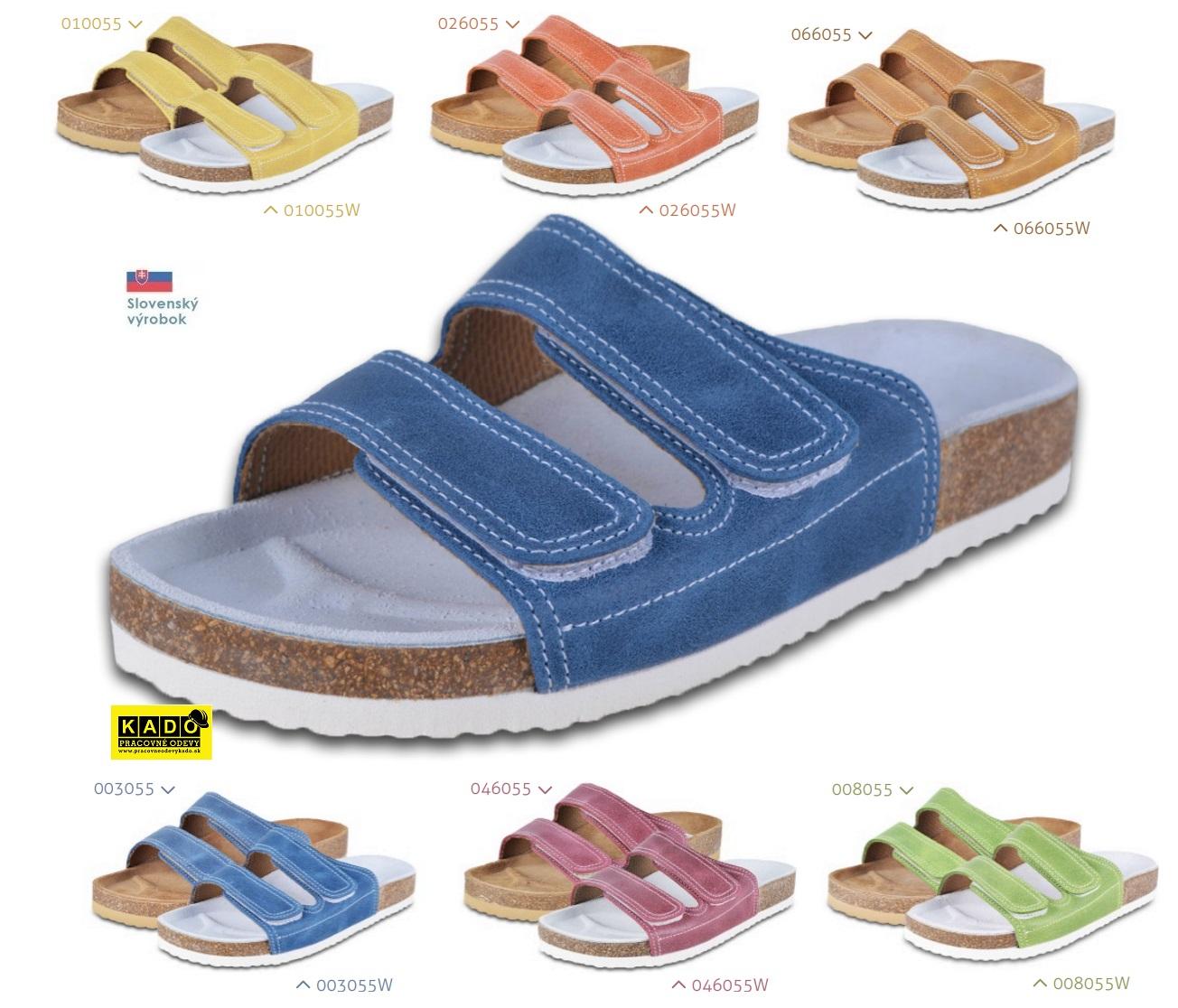 774aa7422848 Detská školská obuv-ortopedické šľapky 055 BAREA