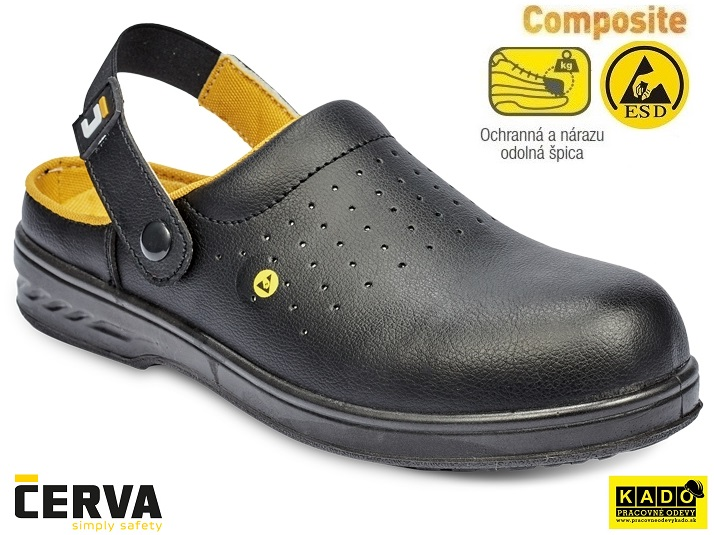 a3f827609245 Bezpečnostná obuv - sandále RAVEN ESD CLOG SB SRC ČIERNE