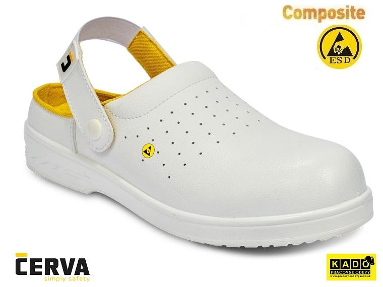 65f5ab70e8e5 Pracovná obuv - sandále RAVEN ESD CLOG SRC BIELE