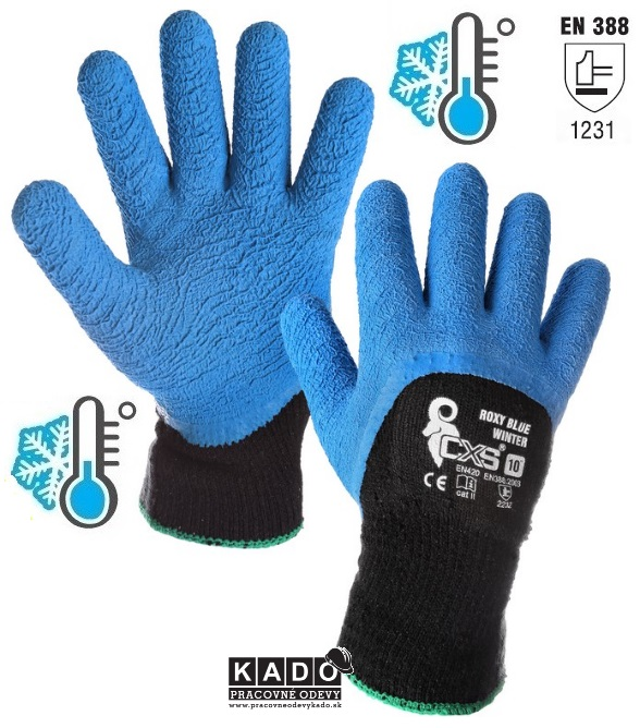 Pracovné RUKAVICE ROXY BLUE zateplené MODRÉ veľkosť 10 4f69bb0e36