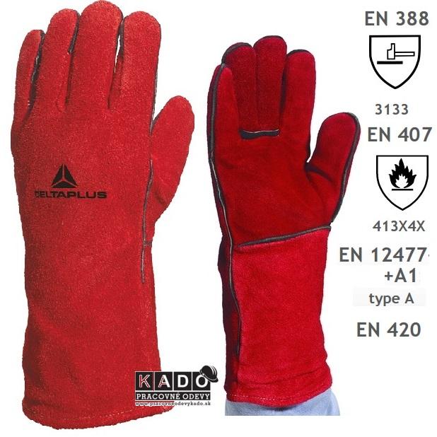 Pracovné Zváračské rukavice CA515R DELTAPLUS 7532fc58b6