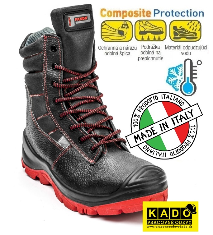 10d55fc1e523 Bezpečnostná zateplená poloholeňová obuv PANDA CAVALLINO S3