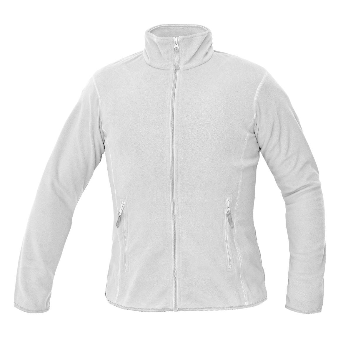 Pracovné odevy - dámska fleecová mikina GOMTI ČERVA BIELA 1659048c56