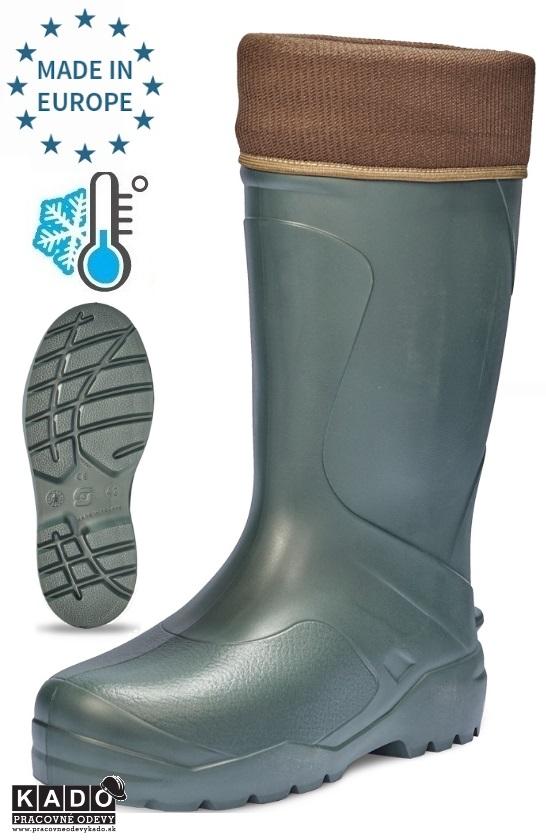dc53921cd2f2 Pracovná obuv - Zateplené čižmy GIANCARLO EVA ČERVA ZELENÉ