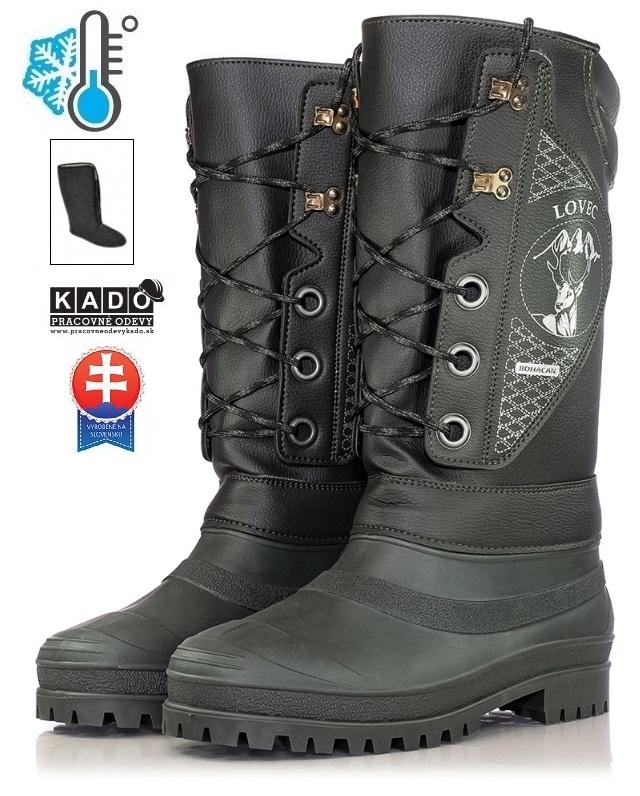 Pracovná obuv - zateplené čižmy LOVEC ROHÁČAN 65d55385e59