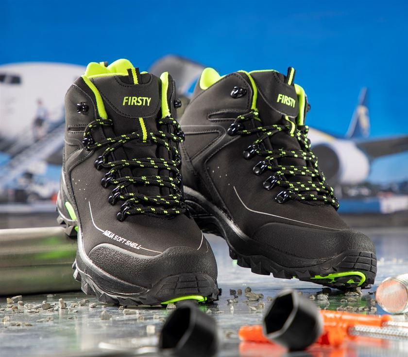 Športová softshellová obuv CROSS ARDON kotník čierna žltá c73a6272cac