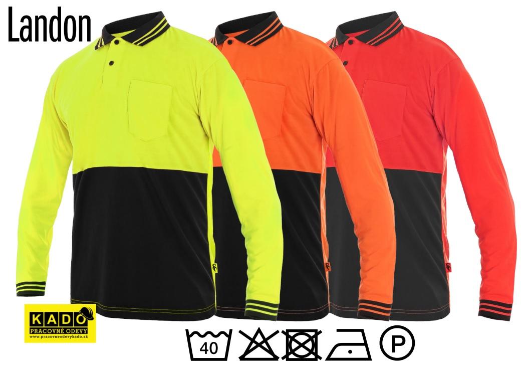 7dd9698605b Pracovné odevy - polokošeľa LIAM CXS 175g čierno žltá