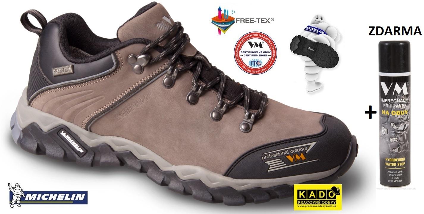 AKCIA Pracovná treková obuv VM 4385-O2 OKLAHOMA MICHELIN + IMPREX 3600  ZDARMA 0c6fc20a92c