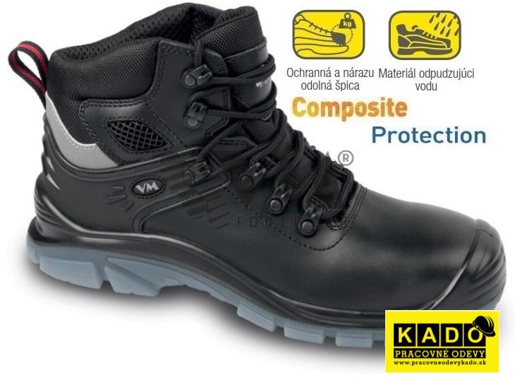 97ce1a1dd1b1 Bezpečnostná obuv VM DALLAS 5430-S1 NON METALIC čierna