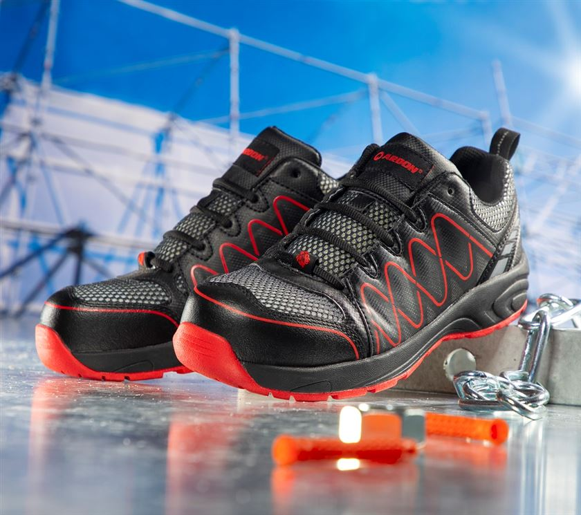 Bezpečnostná obuv - poltopánky ARDON VISPER S1 ČERVENÉ 0d11e3f5f13