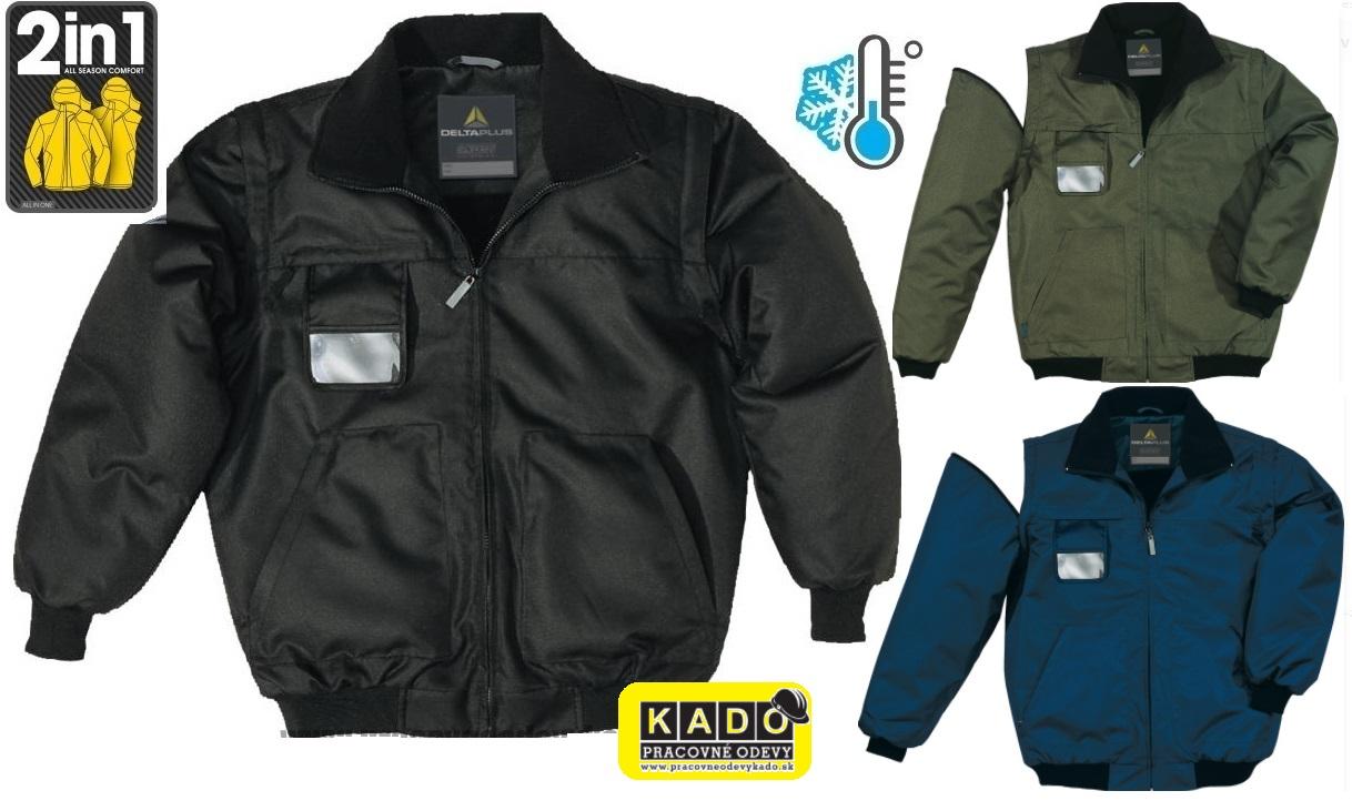 b989a8d7ac75 Pracovné odevy-Zateplená Bunda Reno 2v1 SBS DELTAPLUS