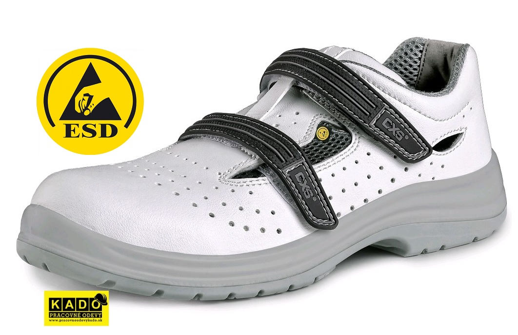 c8ee929e0057 Pracovné sandále ESD PINE O1 CXS BIELO SIVÉ