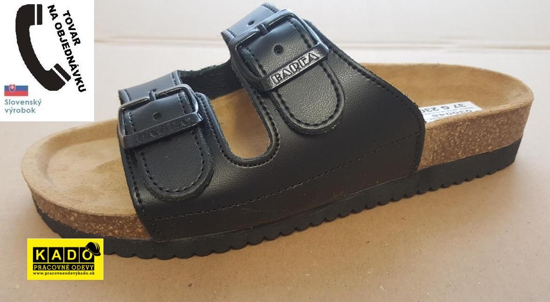 643bc56f2a4f Pracovná obuv BAREA - zdravotné ortopedické šľapky 030048 čierne