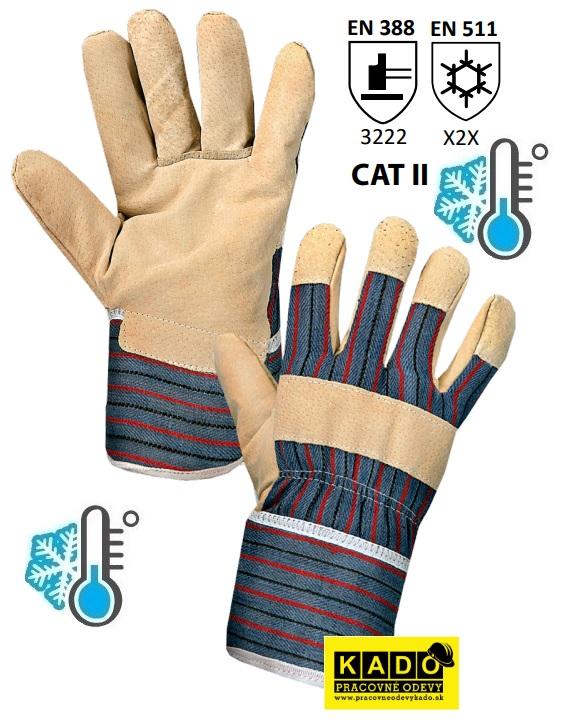Pracovné zateplené rukavice ZORO WINTER CXS b8aff93e29
