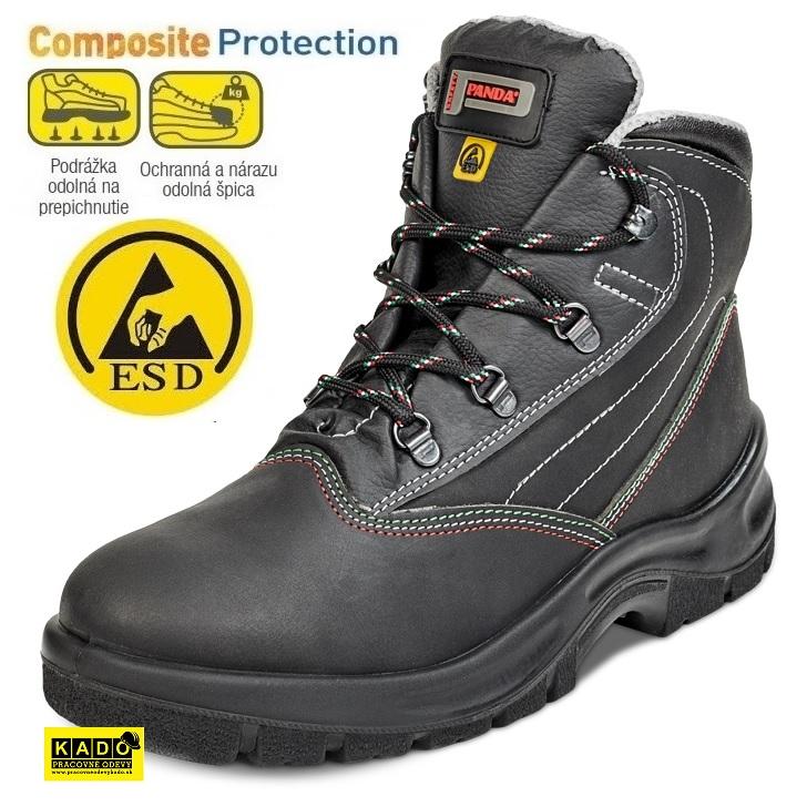 cd8388f1a127c Bezpečnostná obuv PANDA IDRA ESD S1P SRC kotník empty