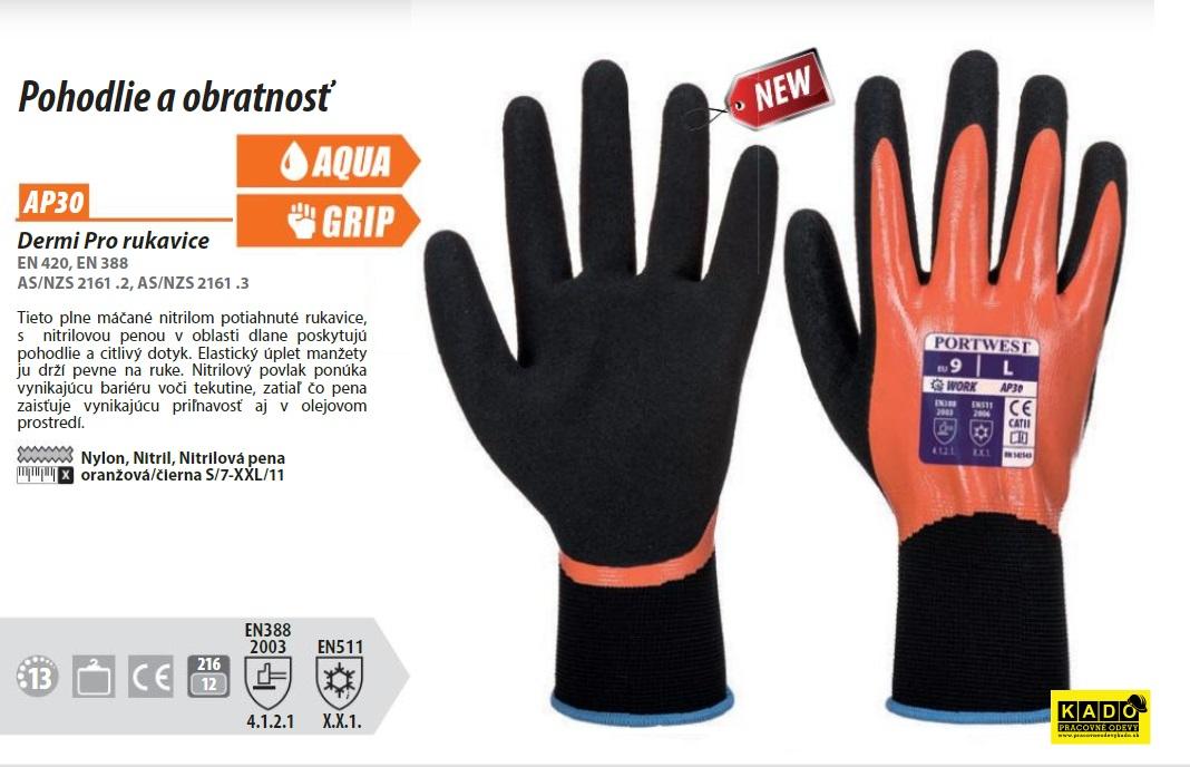 Zateplené rukavice Dermi Pro AP30 Portwest b0f7b31f76