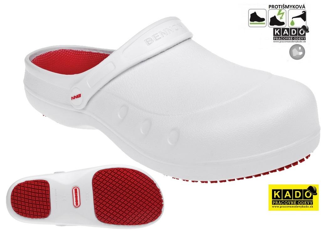 95c1b45e75 Pracovné sandále BENNON MAXIM OB BLACK Slipper BIELE NOVINKA