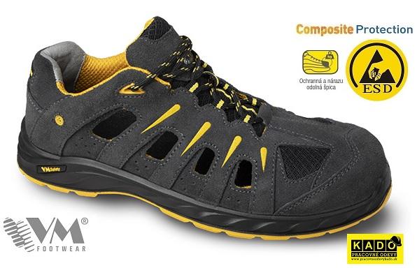 f1a054f1ed Bezpečnostná obuv VM- sandále 2165-S1 ESD BILBAO