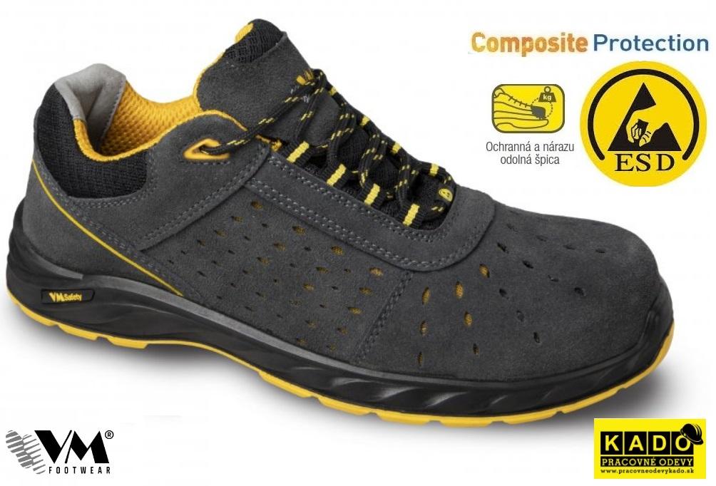 42b7720c6 Bezpečnostná obuv VM- poltopánky 2175-S1 ESD BARCELONA