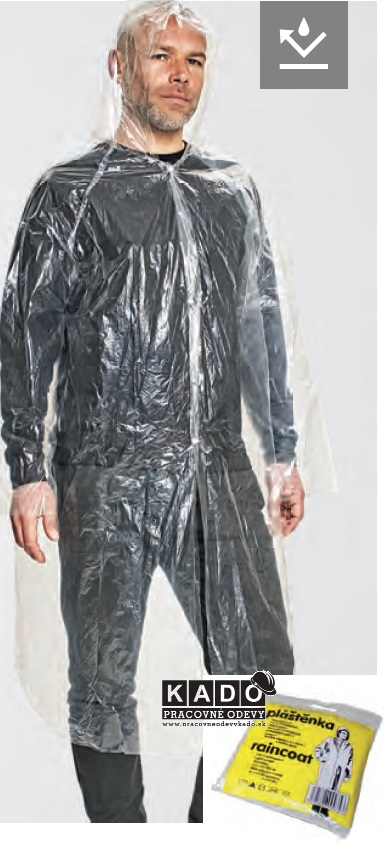 Pracovné odevy - PE 100% Pláštenka nepremokavá 64540d39dcc