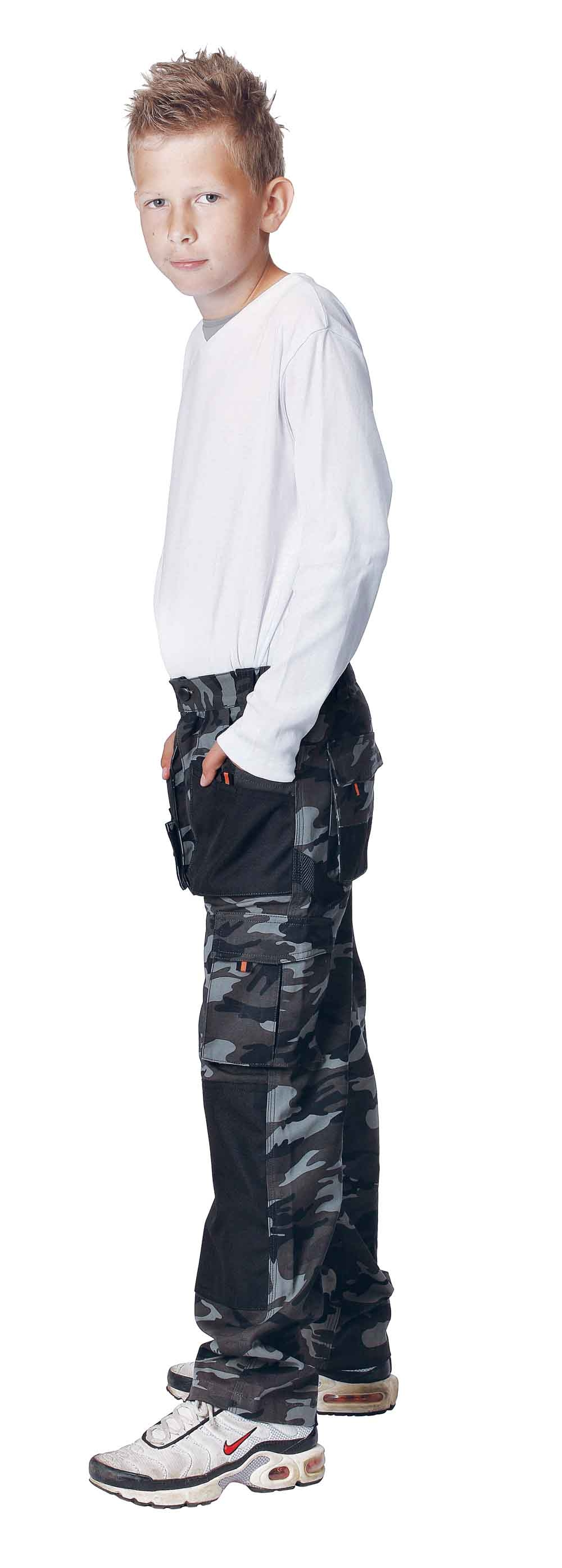 a82a37e2f Maskáčové detské montérkové nohavice EMERTON KIDS CAMOUFLAGE DOPREDAJ