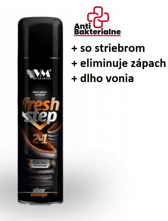 Antibakteriálny DEODORANT do obuvi FRESH STEP 2IN1