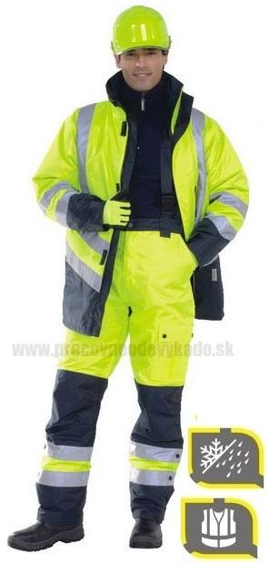 Pracovné odevy -Zimné Reflexné Nohavice FARGO DELTAPLUS žltá ... ddb2cf31597