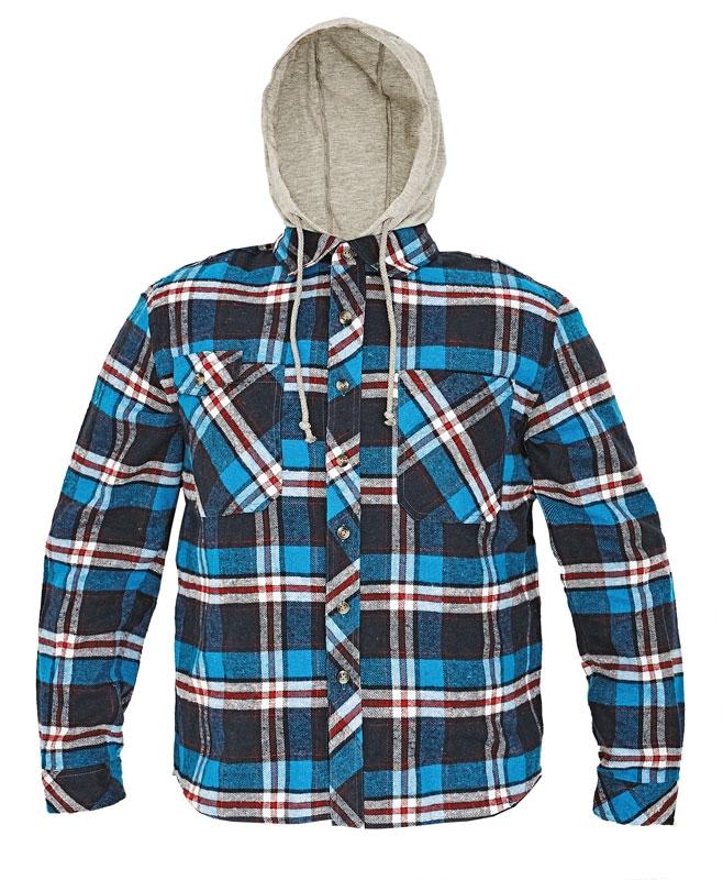 b8771051bc48 Pracovné odevy - flanelová košeľa LUCAN ČERVA s kapucňou
