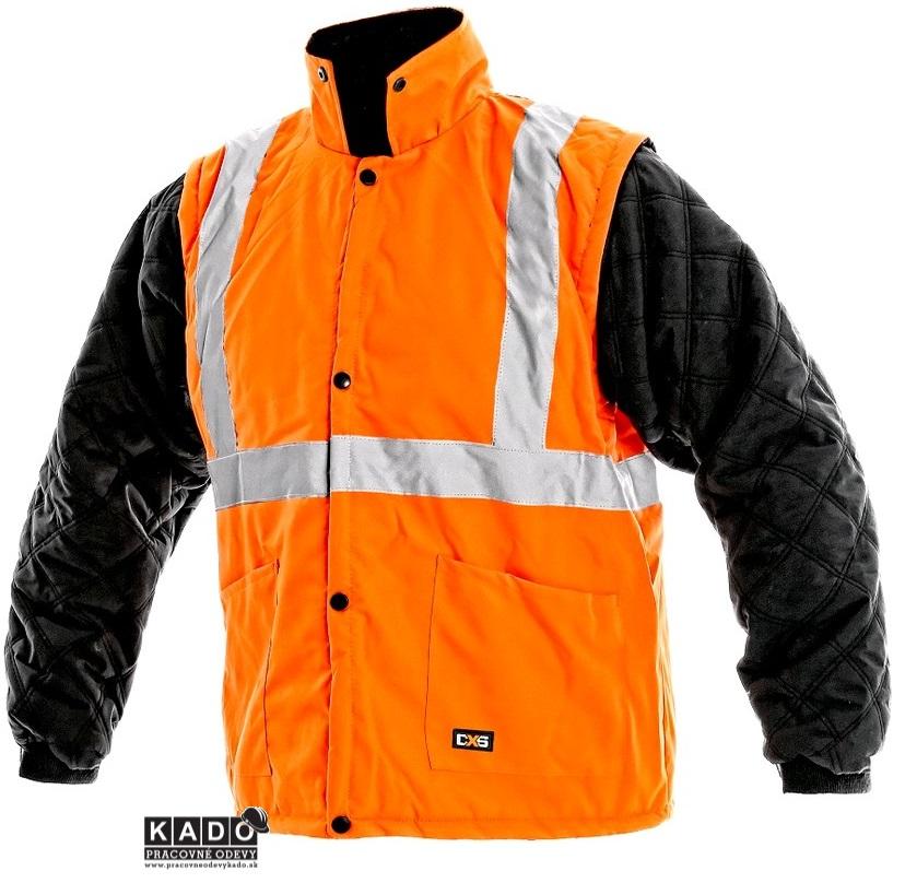 Pracovné odevy - reflexná bunda OXFORD 5V1 CXS ORANŽOVÁ  860f3a7c318