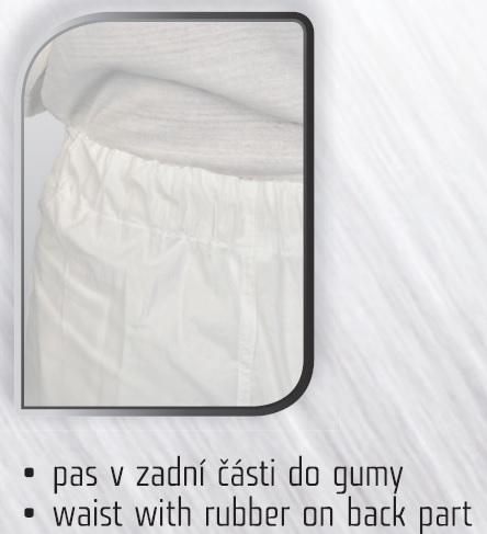 fcbaedbb2e8f Pracovné odevy-dámske bavlnené nohavice DARJA CXS biele do gumičky